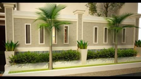 gambar pagar tembok rumah