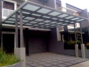 model kanopi teras depan rumah baja ringan
