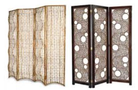 sekat ruangan minimalis dari bambu partisi bambu