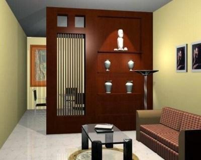 sekat ruangan minimalis dari kayu