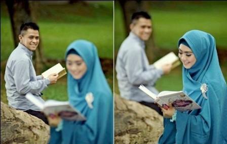 ide prewedding outdoor simple muslim hijab   HamilPlus.Com 2021
