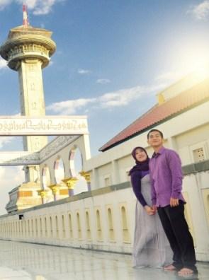 prewedding di masjid temukan spot yang bbagus