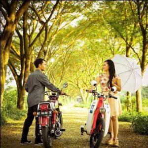 prewedding motor CB di taman | HamilPlus.Com 2021