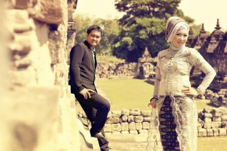 prewedding vintage hijab di kawasan Candi | HamilPlus.Com 2021