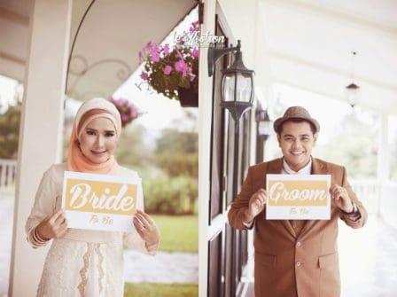 prewedding vintage hijab properti tulisan | HamilPlus.Com 2021