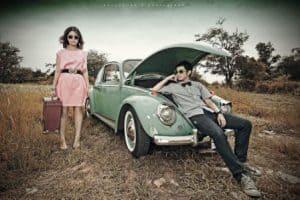 prewedding vintage style