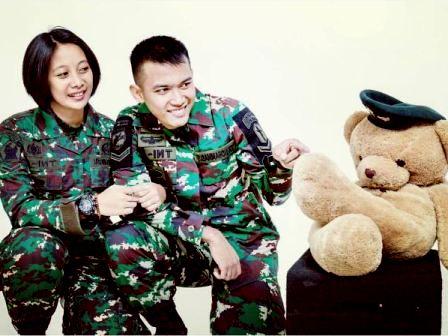 prewedding TNI tentara AD