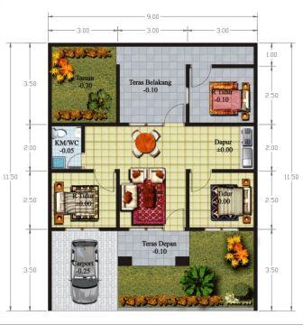 rumah minimalis 1 lantai 3 kamar tidur 13 | HamilPlus.Com 2021