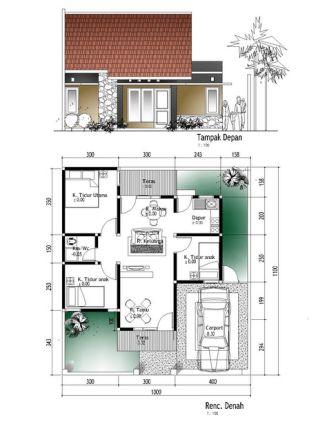 rumah minimalis 1 lantai 3 kamar tidur 16 | HamilPlus.Com 2021