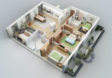 rumah minimalis 1 lantai 3 kamar tidur 4 | HamilPlus.Com 2021