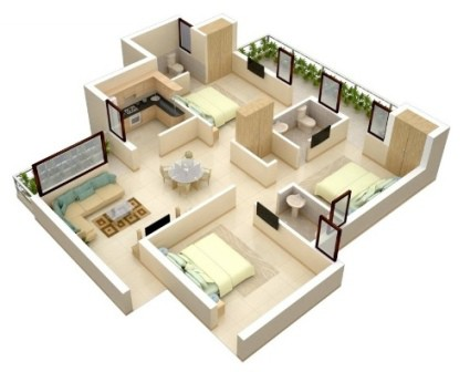 rumah minimalis 1 lantai 3 kamar tidur 7 | HamilPlus.Com 2021