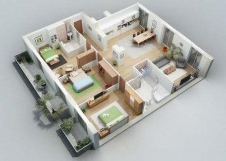 rumah minimalis 1 lantai 3 kamar tidur 8 | HamilPlus.Com 2021
