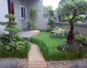 taman minimalis depan rumah lahan sempit