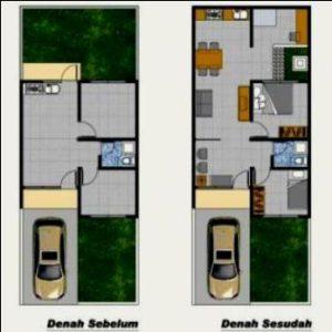 Denah Rumah Type 36 Minimalis Sederhana 3D 17 | HamilPlus.Com 2021