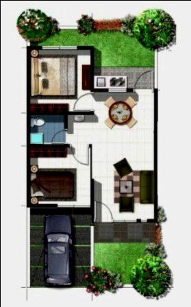 Denah Rumah Type 36 Minimalis Sederhana 3D 20 | HamilPlus.Com 2021