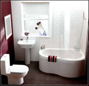 Desain Kamar Mandi Minimalis shower wastafel closet duduk