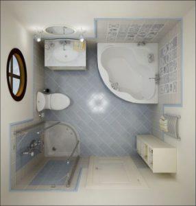 Desain Kamar Mandi Minimalis ukuran 2x2