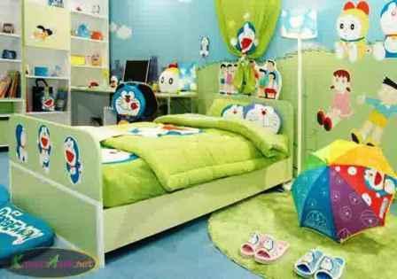 Desain Kamar Tidur Anak Perempuan Doraemon