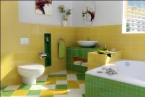 warna keramik kamar mandi batu alam di dinding kamr mandi abstrak warna warni