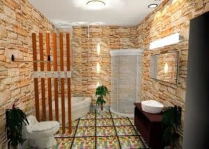 warna keramik kamar mandi batu alam di dinding kamr mandi