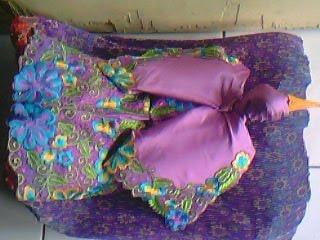 cara membuat hantaran baju gamis