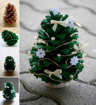 dekorasi natal unik, dekorasi natal di rumah, dekorasi natal dari barang bekas,dekorasi pohon natal