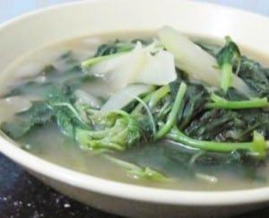 resep sayur bobor kangkung 2