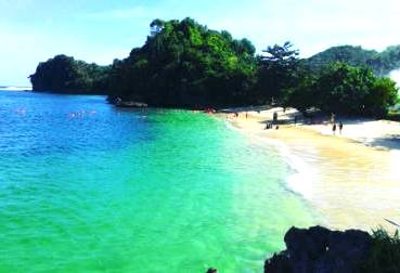 pantai 3 warna - pantai tiga warna - lokasi pantai 3 warna - rute menuju pantai 3 warna - cara pemesanan