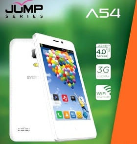 Evercoss A54 Jump - Hp Android 500 ribuan 3G Kitkat