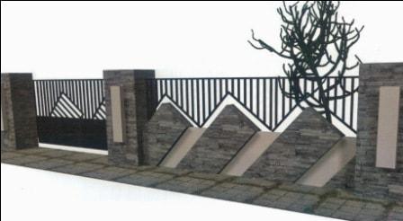 gambar pagar rumah minimalis modern terbaru, contoh ide