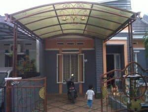 model kanopi teras depan rumah besi simple minimalis