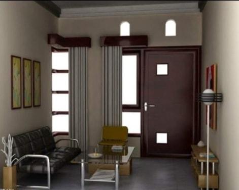 penataan ruang tamu sederhana ukuran kecil
