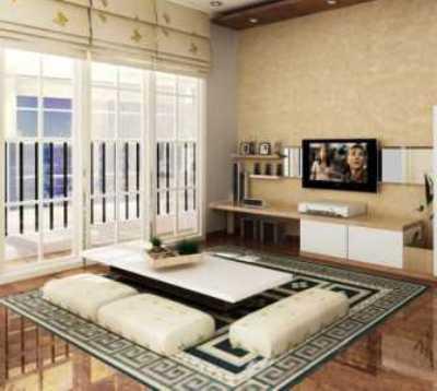 penataan ruang tamu tanpa perabot