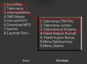 cara TM simpati loop
