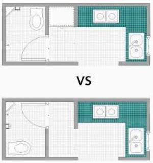 Desain kamar mandi menyatu dengan dapur saat ini sudah menjadi tren yang merebak khususnya pada hunian di kota besar dengan keterbatasan lahan.