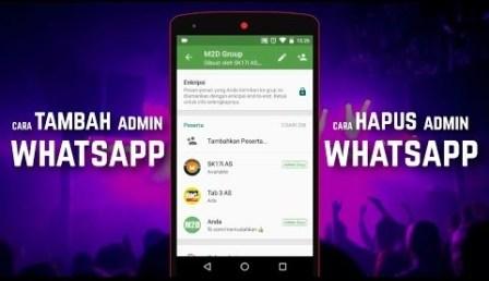 cara mengurangi admin grup whatsapp