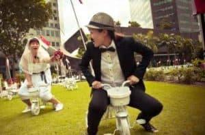 pre wedding unik dan lucu pinjam sepeda ponakan atau sewa di toko sepeda   HamilPlus.Com 2021