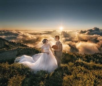 prewedding di gunung atau kawah putih ciwidey