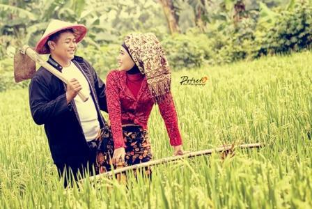 prewedding di sawah   HamilPlus.Com 2021