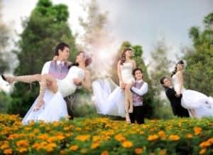 prewedding taman bunga nusantara