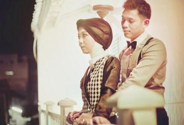 prewedding vintage hijab klasik retro romantis   HamilPlus.Com 2021