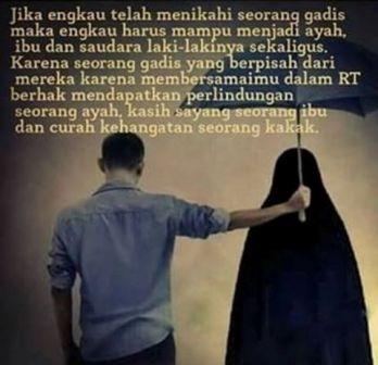 Kata Mutiara Untuk Istri Dan Anak menikahi wanita adalah tanggung jawab