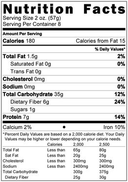 Pasta Nutrition Facts Pasta Nutrition Facts