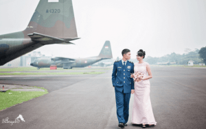 Prewedding TNI AL AD AU yang Unik, Bagus dan Elegan