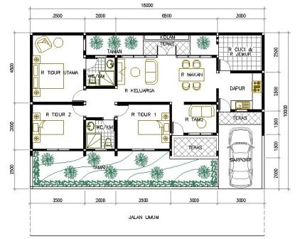 rumah minimalis 1 lantai 3 kamar tidur 11 | HamilPlus.Com 2021