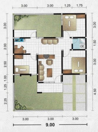 rumah minimalis 1 lantai 3 kamar tidur 14 | HamilPlus.Com 2021