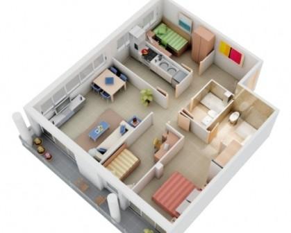 rumah minimalis 1 lantai 3 kamar tidur 2 | HamilPlus.Com 2021