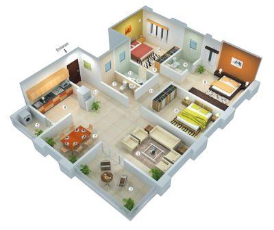 rumah minimalis 1 lantai 3 kamar tidur | HamilPlus.Com 2021