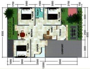 Denah Rumah Minimalis Type 45 10 | HamilPlus.Com 2021
