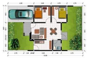 Denah Rumah Minimalis Type 45 6 | HamilPlus.Com 2021
